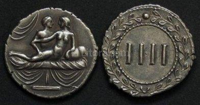 Spintria, las monedas sexuales de la Antigua Roma