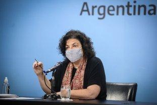 """Vizzoti: """"El aumento exponencial de casos de coronavirus se ha detenido"""" Confirmó la llegada de vacunas del programa COVAX"""