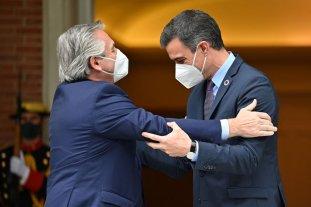 """Alberto Fernández destacó que """"Argentina y España van a consolidar un acuerdo estratégico"""" Tras su reunión con el rey Felipe VI y Pedro Sánchez"""