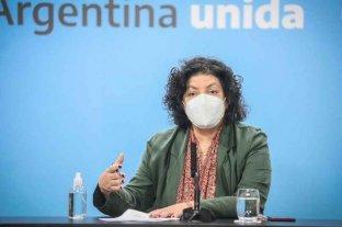 """Vizzotti aseguró que """"disminuyen los casos"""" y que """"se esperan vacunas del segundo componente"""" En Argentina"""