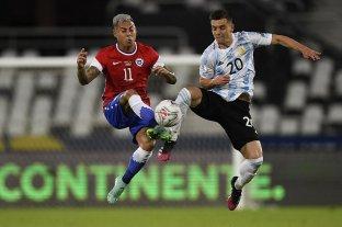 Argentina no pudo mantener la ventaja y empató con Chile en el debut Copa América Brasil 2021