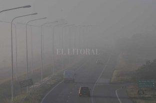 Bancos de niebla afectan las rutas de la provincia Santa Fe Circular con precaución