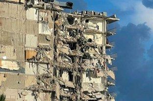 Hay cuatro argentinos desparecidos por el derrumbe de un edificio en Miami  Estados Unidos