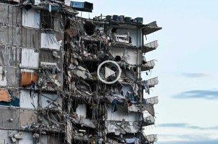 Video: así se derrumbó el edificio de Miami Al menos una persona fallecida