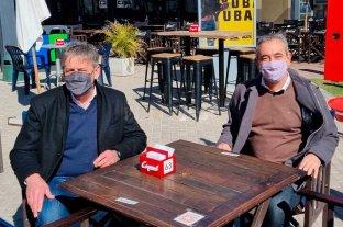 Jatón y Javkin juntos en la ciudad de Santa Fe Intendentes del Frente Progresista