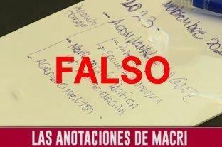 No, las anotaciones virales con errores ortográficos no son de Mauricio Macri Falso