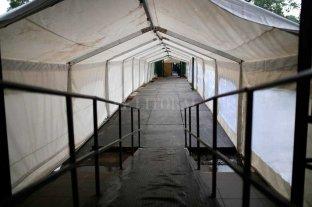 El lunes sacan la manga del hospital José María Cullen  Vacían la carpa militar