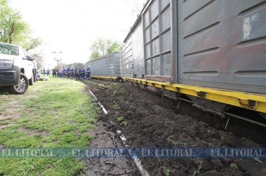 Descarrilamiento del tren en calle P. Vittori