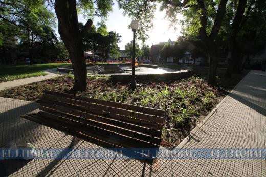 La plaza Pueyrredón va tomando forma
