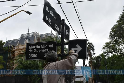 Cambió el sentido de circulación en un tramo de calle Güemes