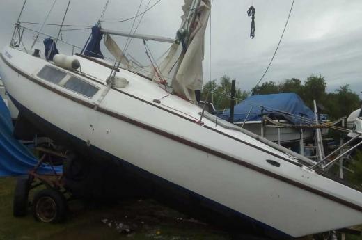 El temporal también dañó el parque nautico santafesino