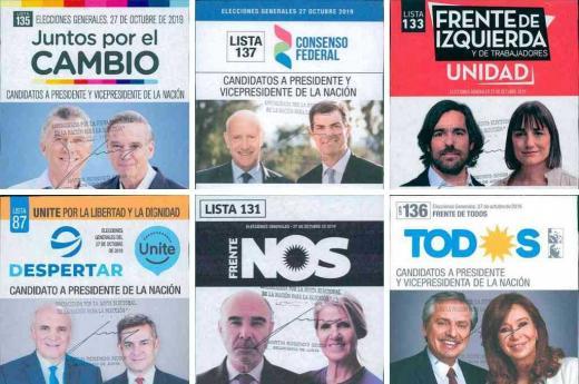 Boletas Elecciones generales Octubre 2019