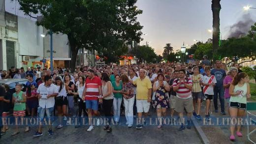 Histórica y masiva marcha en Rafaela en reclamo de seguridad y justicia