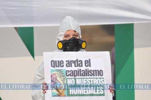La región protesta para salvar los humedales