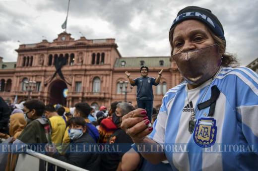 El adios a Diego Maradona en Buenos Aires