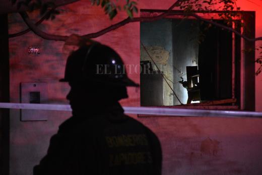Incendio fatal en San Martín al 3900