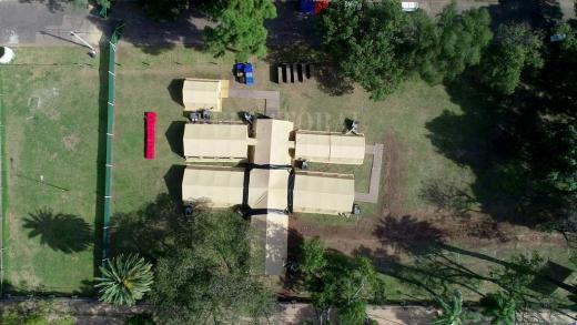 Desde el aire, así se ve el hospital Militar