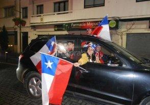 Festejos en Concepción tras la clasificación