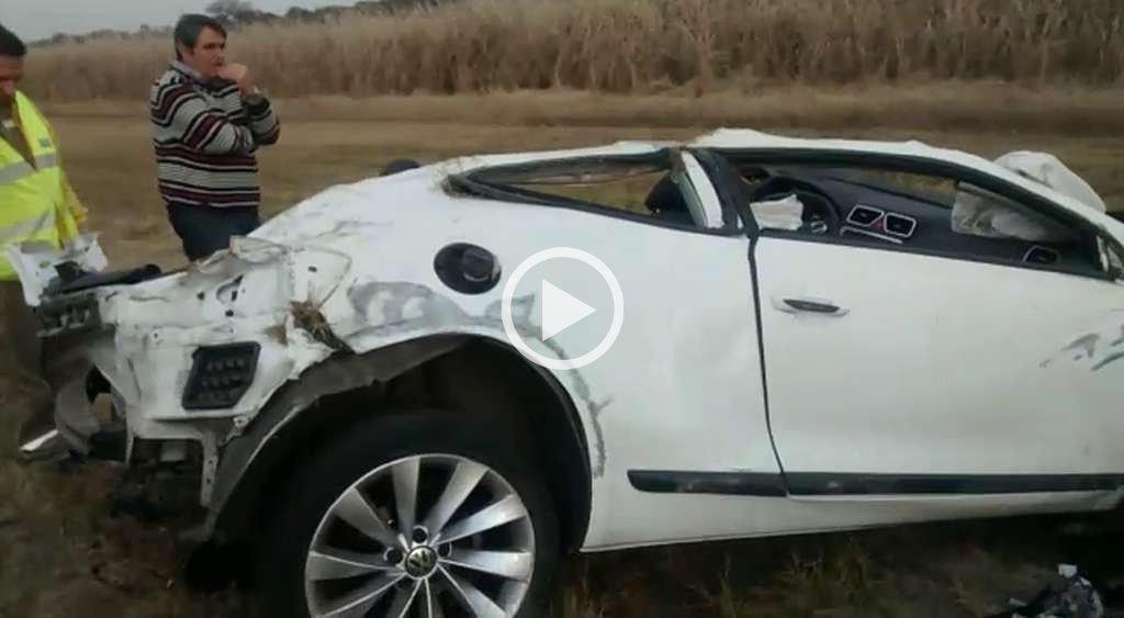 Video: Primeras im�genes tras el choque de Barisone