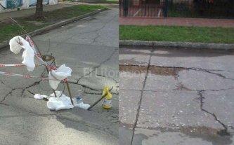 Preocupación por hundimientos en calles de tres barrios