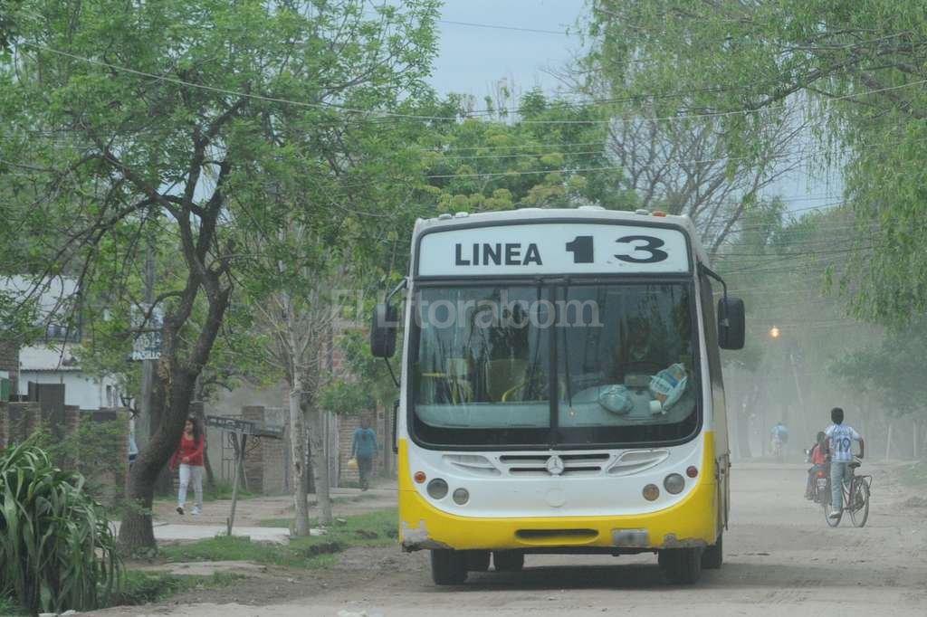 Un interno de la Línea 13 fue escenario de los disturbios <strong>Foto:</strong> Archivo El Litoral / Flavo Raina