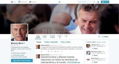 Macri actualizó sus perfiles de Twitter y Facebok