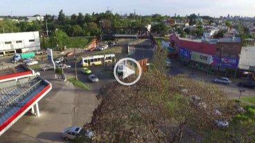 Video: un drone film� el funcionamiento del Tren Urbano -  -