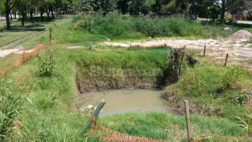 Un laguito peligroso y contaminado