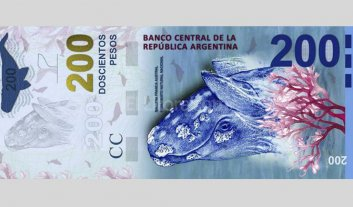 Pusieron la ballena al rev�s en el nuevo billete de $ 200