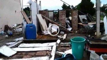 Video: una cola de un tornado gener� destrozos en el norte de Mar del Plata