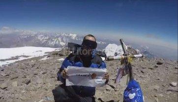 Un santafesino escal� solo e hizo cima en el Aconcagua