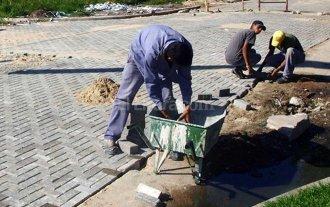 Ren� Favaloro: 80 % de avance en trabajos de pavimento