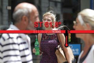 Casi 62� de sensaci�n t�rmica a las 14 en Santa Fe