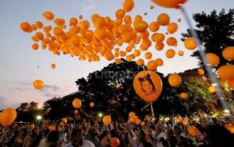Suelta de globos de la  Fundaci�n Mateo Esquivo