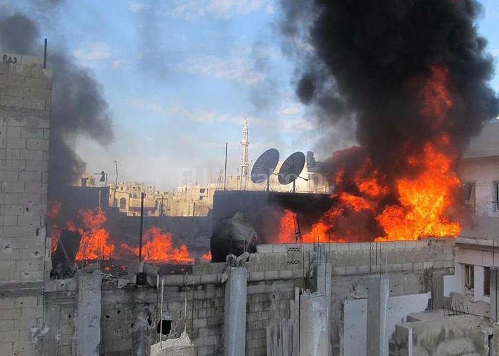 Bombardeos en la ciudad de Homs. Crédito: EFE