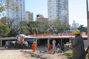 Parque Alberdi: la obra atraviesa una etapa clave