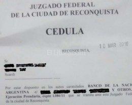 Banco Nación intima a tambero santafesino