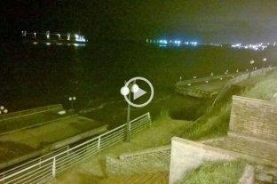 Video: se derrumb� parte del Paseo de la Libertad en San Lorenzo