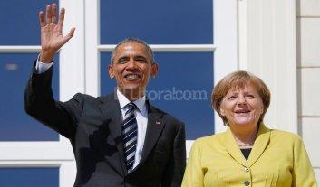 Obama llegó a Alemania para sellar un tratado de libre comercio con la UE