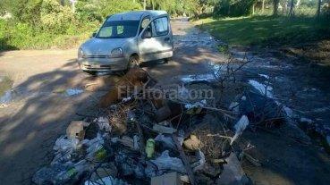 Tres barrios reclaman por el estado de calles y la recolecci�n de residuos
