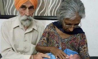 Dio a luz a los 70 años