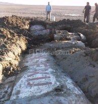 Encontraron un avión en un lago seco de Chubut