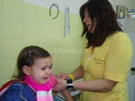 En la provincia, s�lo uno de diez  beb�s est� vacunado contra la gripe