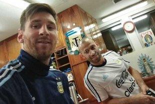 Messi lleg� al pa�s y se entrena con la Selecci�n Argentina
