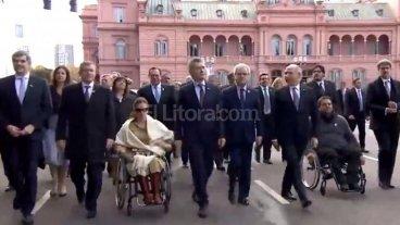 """Macri: """"Estoy muy contento por como marchan las cosas"""""""