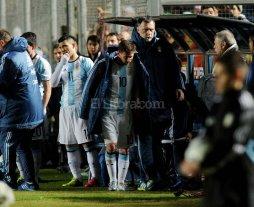Messi sufri� una fuerte hematoma lumbar sin lesi�n �sea
