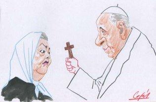 Bonafini y Bergoglio