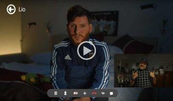 Video: desopilantes consejos de Maradona para Messi