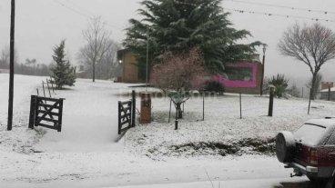 Mir� las mejores im�genes de la nieve en C�rdoba