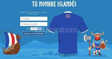 Tu nombre en island�s y en la camiseta de f�tbol de ese pa�s, la sorpresa de la Eurocopa